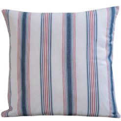 Red and Blue Sailboat Stripe Cushion