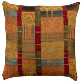 Extra Large Moroccan Patchwork Cushion in Terracotta