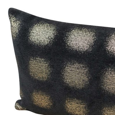 Zaffiro Metallic Chenille Boudoir Cushion in Pewter