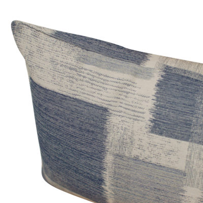 Patchwork Blocks XL Rectangular Cushion in Blue