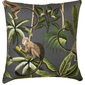 Saimiri Monkey Cushion in Grey