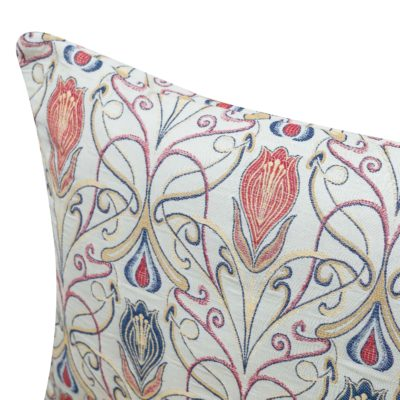 Millefleur Tapestry Style XL Rectangular Cushion in Rouge