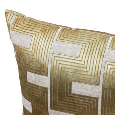 Athena Greek Key XL Rectangular Cushion in Bronze