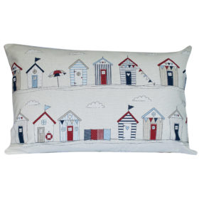 Beach Hut Print XL Rectangular Cushion