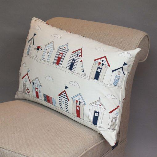 Beach Hut Print XL Rectangular Cushion