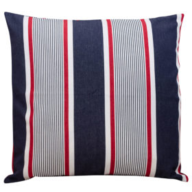 Classic Red and Blue Marine Stripe Cushion