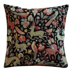 Mythical Animals Cushion in Black