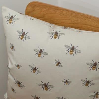 Honey Bee Print Cushion