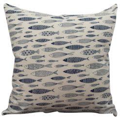 Vintage Sardine Linen Look Cushion