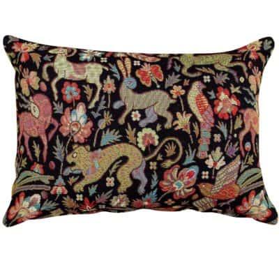 Mythical Animals Boudoir Cushion in Black