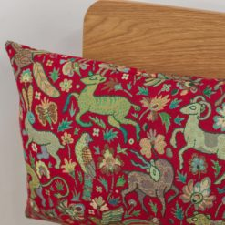 Mythical Animals XL Rectangular Cushion in Red