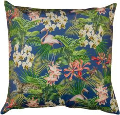 Extra Large Tropical Flora Velvet Cushion