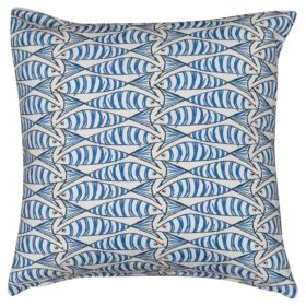 Extra Large Blue and White Sardine Cushion
