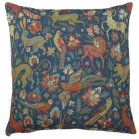 Mythical Animals Cushion in Indigo