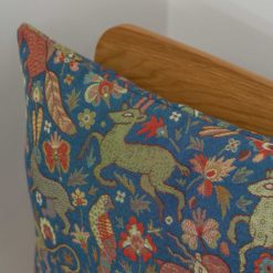 Mythical Animals Cushion in Indigo