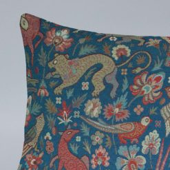 Mythical Animals XL Rectangular Cushion in Indigo