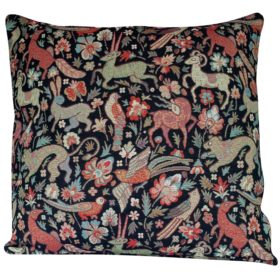 Mythical Animals XL Cushion in Black
