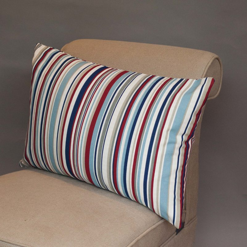 Stripy Nautical XL Rectangular Cushion