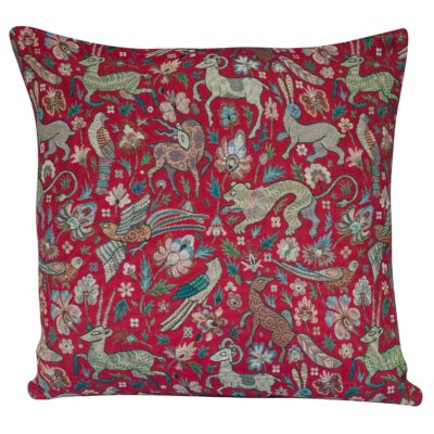 Mythical Animals XL Cushion in Red