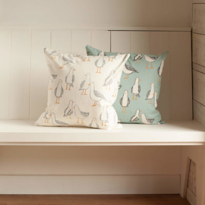 Seagull Cushion in White