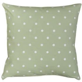 Polkadot Print Cushion in Sage Green