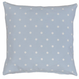 Polkadot Print Cushion in Duck Egg Blue