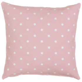 Polkadot Print Cushion in Baby Pink