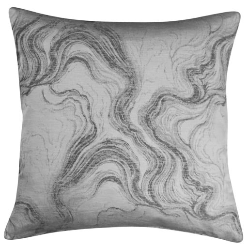 Marble Effect Cushion in Silver