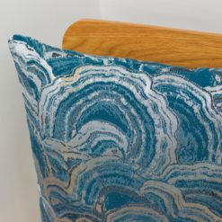Denim Blue Agate Crystal Cushion