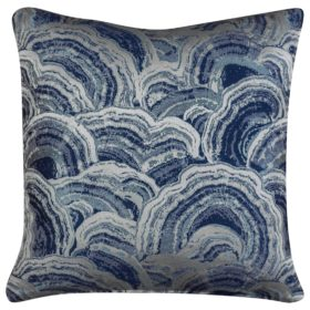 Indigo Blue Agate Crystal Cushion