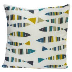 Green and Blue Sardines Cushion