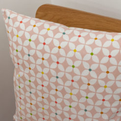 Retro Mini Geometric Print Cushion in Pink