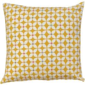 Retro Mini Geometric Print Cushion in Ochre