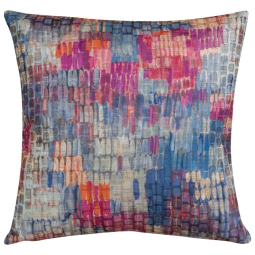 Abstract Painterly Style Cushion in Purple