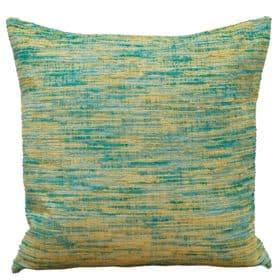 Textured slub-weave Cushion in Blue & Green