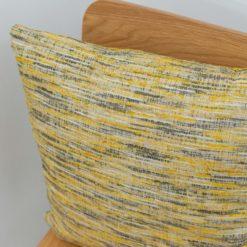 Textured slub-weave Cushion in Ochre