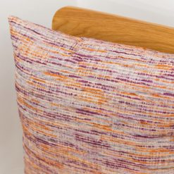 Textured slub-weave Cushion in Berry Purple