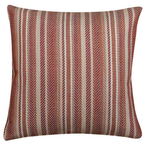 Herringbone Striped Cushion in Maroon Red