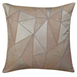 Chicago Art Deco Geometric Cushion in Rose Gold