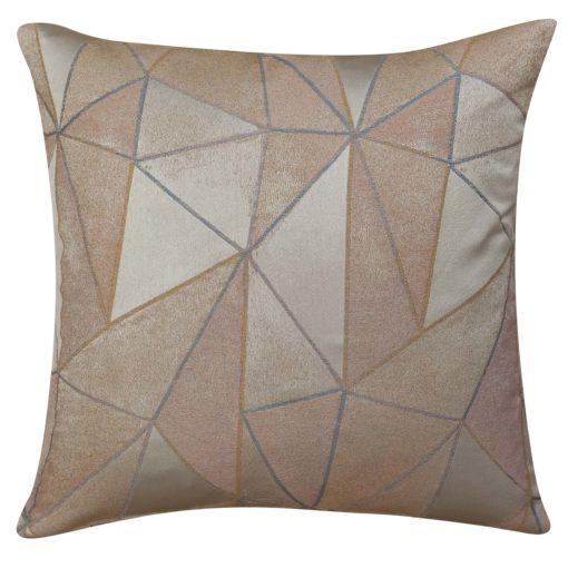 Chicago Art Deco Geometric Cushion in Rose Gold