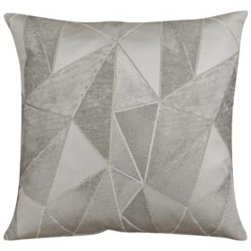 Chicago Art Deco Geometric Cushion in Silver and Grey
