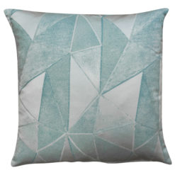 Chicago Art Deco Geometric Cushion in Duck Egg