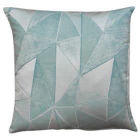 Chicago Art Deco Geometric Cushion in Duck Egg