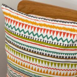 Aztec Pastel Stripe Cushion