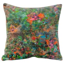 Impressionist Velvet Cushion