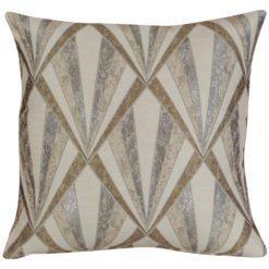 Art Deco Geometric Cushion in Natural
