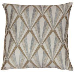 XL Art Deco Geometric Cushion in Natural