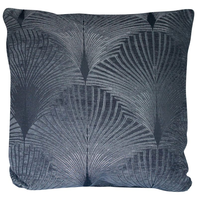 Art Deco Fan XL Cushion in Grey and Silver