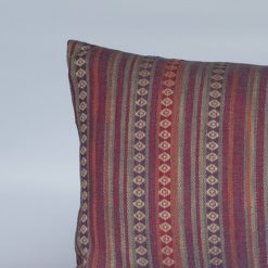 Navajo Blanket Weave XL Rectangular Cushion in Burgundy