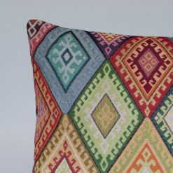 Kilim Weave XL Rectangular Cushion in Rainbow